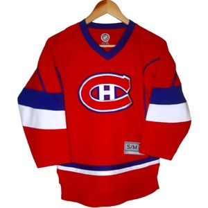 2 Boys S/M Montreal Canadien hockey jerseys